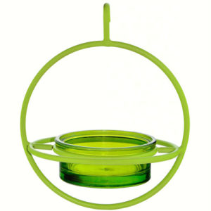 Lime Hanging Sphere Feeder with Perch