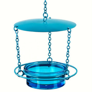 Aqua Covered Hanging Manor Feeder