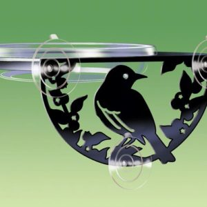 Window-Mount Songbird Silhouette Tray Feeder