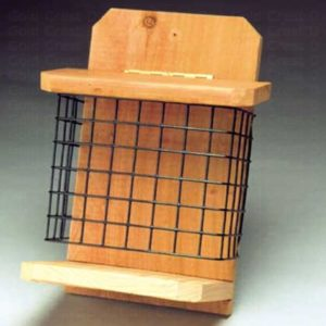 Bushy Tail Wire & Wood Cage Feeder for Large Cakes