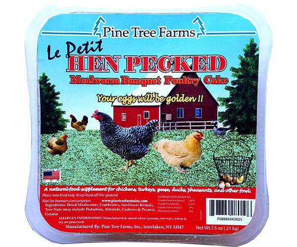 12 x LePetit Hen Pecked Mealworm Cake