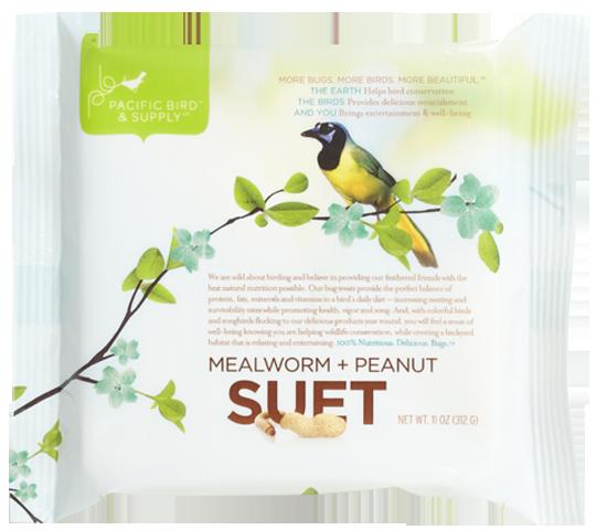 12 x Pacific Bird Mealworm + Peanut Suet
