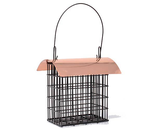 Deluxe Double Suet Basket with Copper Roof