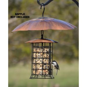 Copper Roof Suet/Seed Log Feeder