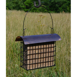 Large Suet/Seed Cake Cage withCopper Top
