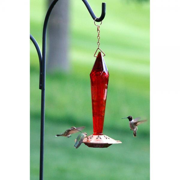 Faceted Ruby Hummingbird Feeder
