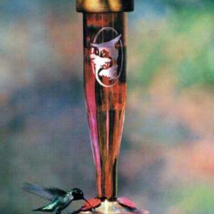 Ruby Etched Hummingbird Lantern Feeder