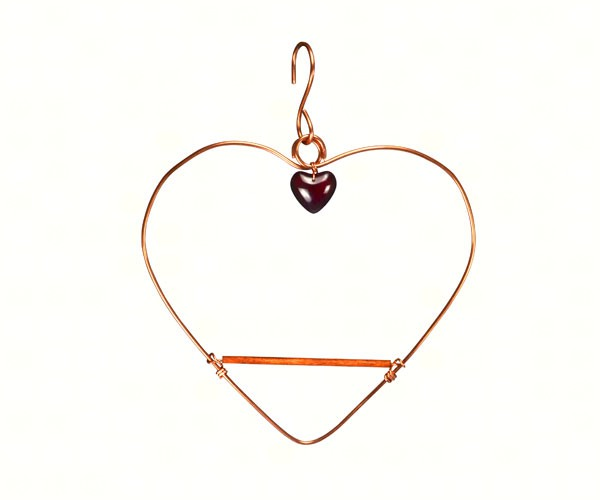 Copper Tweet Heart Hummingbird Swing