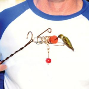 Whimsy Wand Hand-held Hummingbird Feeder