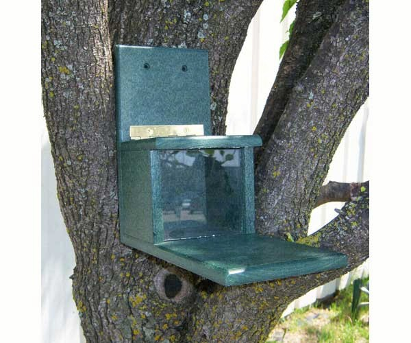Recycled Squirrels Only Feeder - Hunter Green