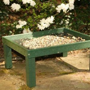 Recycled Ground Platform Feeder - Hunter Green