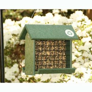 Recycled Large Cake Woodpecker Feeder - Hunter Green
