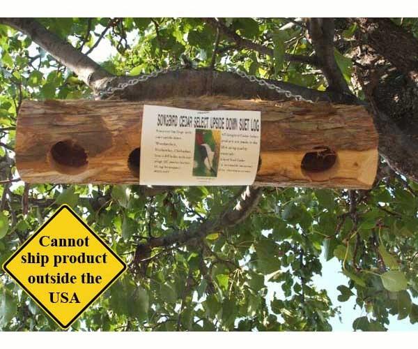 Upside Down Suet Log Feeder - 4 holes
