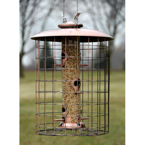 Caged 6-port Seed Tube Feeder