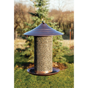 Coppertop Caged 6-port Seed Feeder
