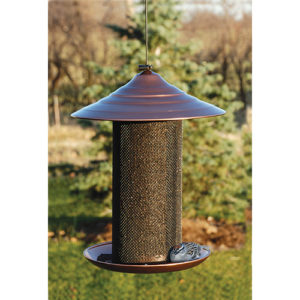 Copper Sunflower Mesh Feeder