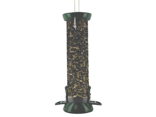 """12"""" 2-port Green Clever Clean Seed Feeder"""