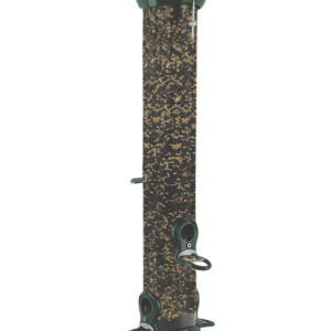 "18"" 4-port Green Clever Clean Seed Feeder"