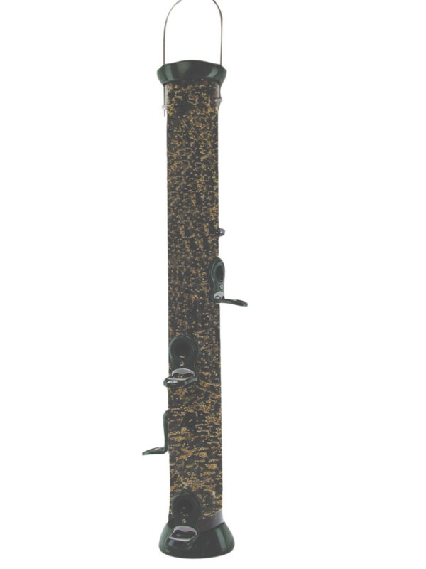 """24"""" 6-port Green Clever Clean Seed Feeder"""