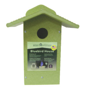 Recycled Eastern Bluebird/Swallow House - green