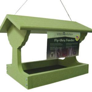 Recycled Fly-thru Feeder - green