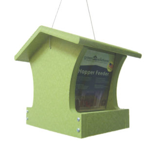 2 qt Recycled Hopper Feeder - green