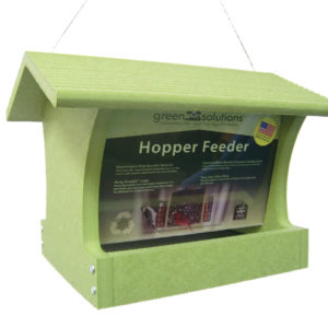 3 qt Recycled Hopper Feeder - green