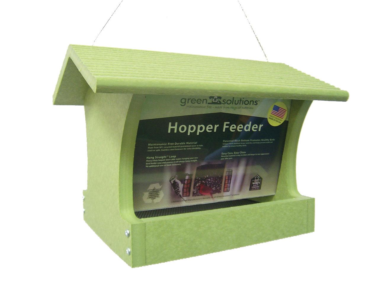 3 qt Recycled Hopper Feeder - green