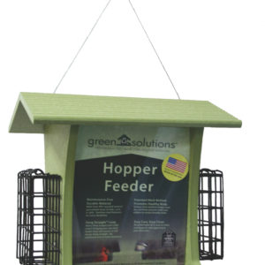 5 qt Recycled Hopper Feeder with Suet Cages