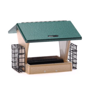 4 qt Recycled Hopper Feeder with Suet Cages