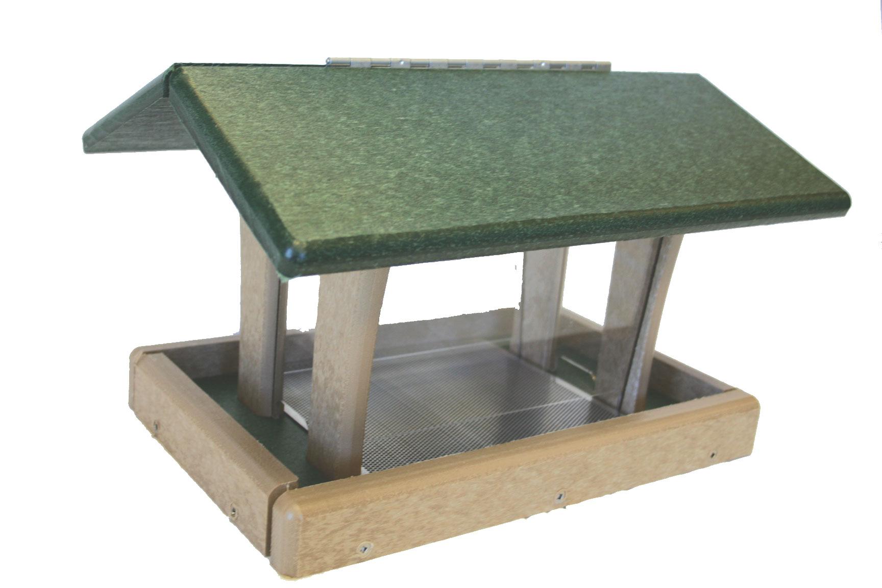 3 qt Recycled 4-sided Hopper Feeder