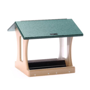 7 qt Recycled Hopper Feeder with Suet Cages