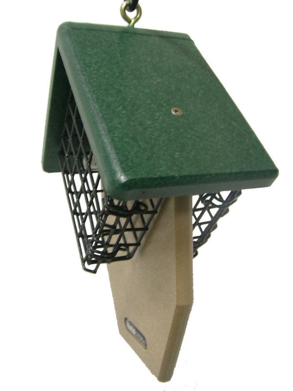 Recycled Double Suet Feeder with Tail Prop