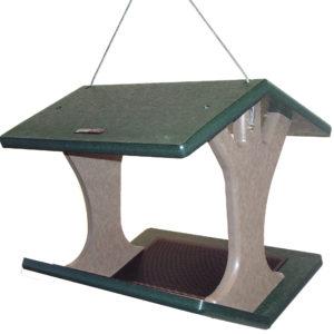 Recycled Hanging Fly-thru Feeder