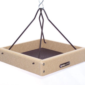 10x10 Recycled Hanging Tray with Black Steel Rods