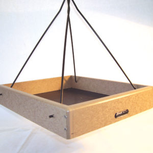 16x13 Recycled Hanging Tray with Black Steel Rods