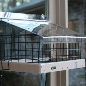 22x9 Recycled Window Mount Tray Feeder Kit w/ Cage & Roof