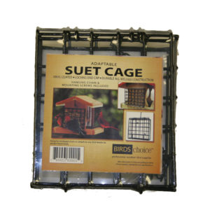 Suet Cage with Screw-mount Holes and Hanging Chain
