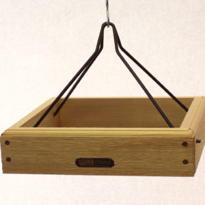 11x10 Hanging Cedar Tray with Collapsible Black Steel Rods