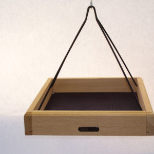 17x14 Hanging Cedar Tray with Collapsible Black Steel Rods