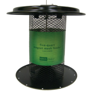 5 qt Magnet Mesh Sunflower Feeder - black