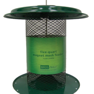 5 qt Magnet Mesh Sunflower Feeder - green