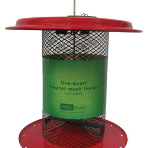 5 qt Magnet Mesh Sunflower Feeder - red